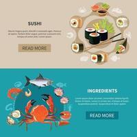 Sushi Banner Set vector
