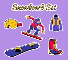 Collection of winter sport icons. vector