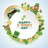 Saint Patricks Day Round Frame vector