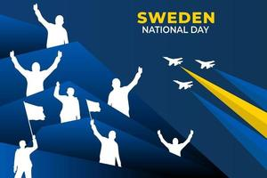 Sweden National Day. Celebrated annually on June 6 in Sweden. Happy national holiday of freedom. Sweden flag. Patriotic poster design. vector