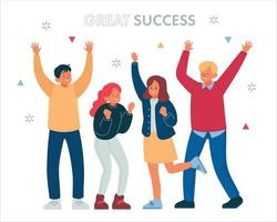 Exciting people. hand drawn style vector design illustrations.