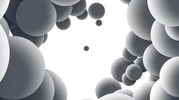 cercles ombrés abstraits autour de l'écran