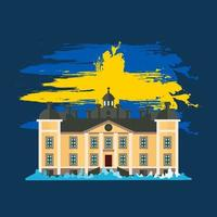 Sweden National Day. Celebrated annually on June 6 in Sweden. Happy national holiday of freedom. Swedish flag. vector