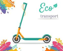 Electric scooter. Eco city transport. Eco Vehicle. Vector illustration