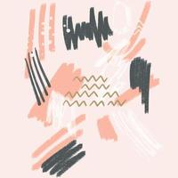 Abstract background with a hand painted art design vector
