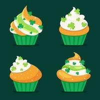 S t. cupcakes del día de San Patricio. ilustración vectorial vector