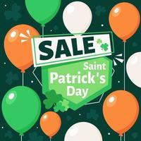S t. venta del día de patrick. ilustración vectorial vector