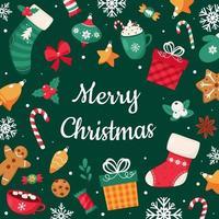 feliz navidad tarjeta de felicitación. ilustración vectorial vector