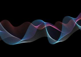 Abstract background with a flowing lines design vector