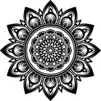 Circular pattern mandala art vector