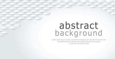 Abstract white and gray wicker, background texture, with space for advertising text - Vector