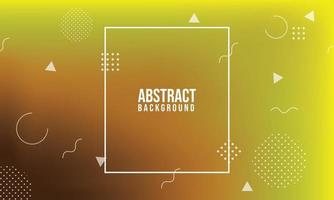 Yellow gradient geometric background. Dynamic shapes composition. Eps10 vector. vector
