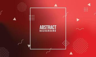 Red gradient geometric background. Dynamic shapes composition. Eps10 vector. vector