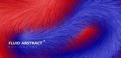 Fashion blue red gradient fur texture abstract background vector