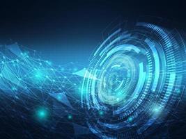 abstract futuristic technology hitech data transfer communication background vector