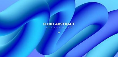 Trendy blue green gradient arc channel abstract element background vector