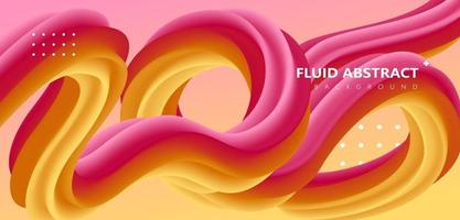Fashion red yellow gradient curve fluid abstract background vector