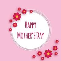 Happy mothers day flower card design vector