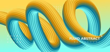 Trendy green yellow gradient curve fluid abstract background vector