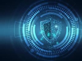 cyber security protection technology background vector
