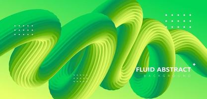 Fashion green gradient curve fluid abstract background vector