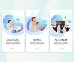 User interface kit for haji guide vector illustration
