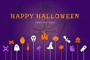 Happy halloween trick or treat banner for party vector