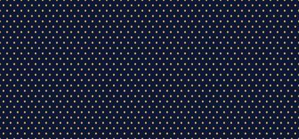 Golden dots seamless pattern on dark blue background luxury style. vector