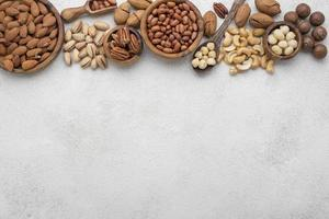 Different kinds nuts frame photo