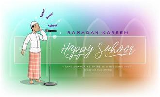 Happy Suhoor in Ramadan vector