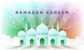 Happy Ramadan Kareem Celebration vector