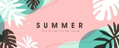 Colorful Summer background layout banners design. Horizontal poster, greeting card, header for website vector