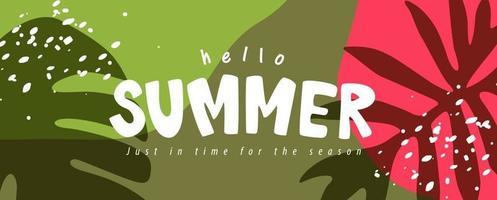 diseño de banners de diseño de fondo de verano colorido diseño de banners de diseño de fondo de verano colorido. cartel horizontal, tarjeta de felicitación, encabezado para sitio web vector
