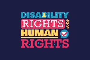 Protect Rights of Disable People Human Equality vector