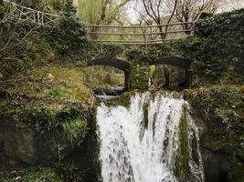 Scenic waterfall view photo
