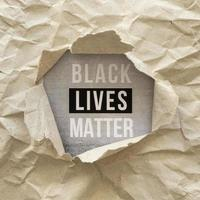 Flat lay black lives matter sign photo