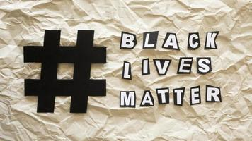 Black lives matter concept with hashtag photo