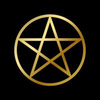 Wicca pentagram symbol isolated occult star sign vector