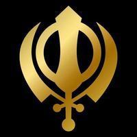 Sikhism faith symbol isolated god sign outline vector
