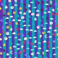 buenas noches sueños símbolos banner de patrones sin fisuras vector