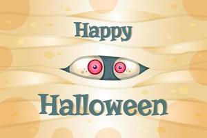 Happy Halloween vector postcard template