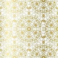 Golden Luxury Art Mandala Boho Seamless Pattern