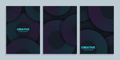 Design cover templates with gradient Circle vector