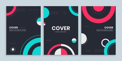Book cover design with abstract circles, Colorful circles cover template vector