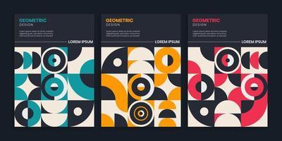 Retro Geometric Cover Collection vector