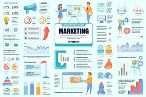 Bundle marketing and promo infographic elements vector