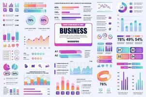 Bundle business and finance infographic elements vector