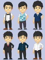 Young Man Character Boy Mascot Avatar Customizable Vector Drawing set