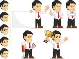 Cartoon Company Manager Office Worker Mascot Vector Drawing Clipart