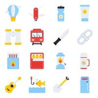 Pack of Cooking Flat Icons vector